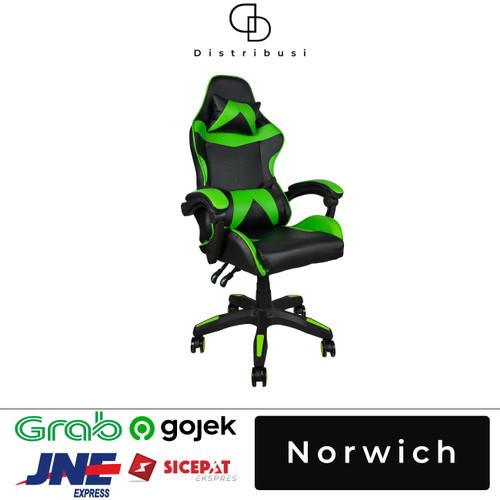 Foto Produk Kursi Gaming / Gaming Chair NORWICH - Hijau dari DD Distribusi