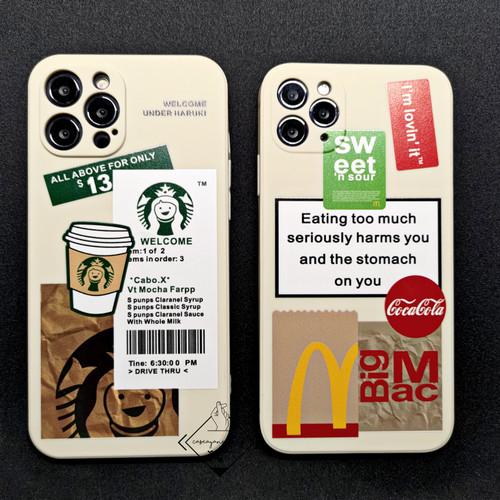 Foto Produk MCD Sbucks square edge case Iphone 6 7 8 Plus SE 2020 X XS 11 PRO MAX - MCD, 6 6S dari Caseayangan ID