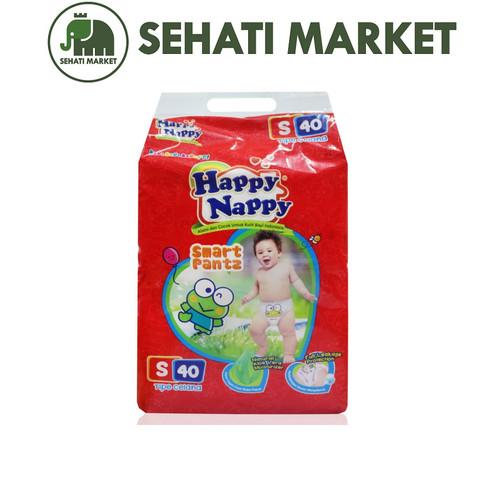 Foto Produk Happy Nappy Smart Pantz S40 / M34 / L30 / XL26   tokopopoksehati - S40 dari SEHATI MARKET
