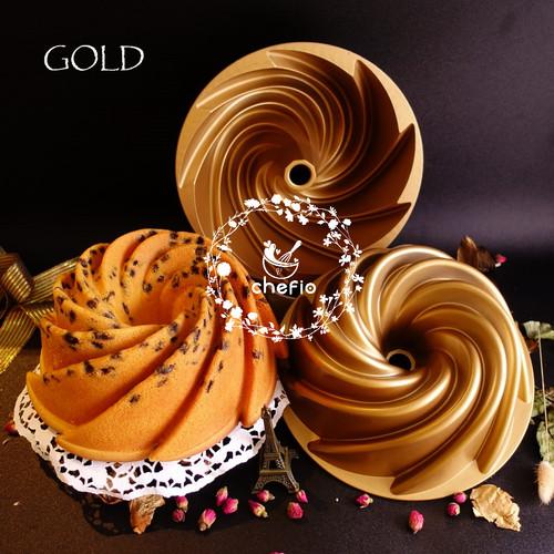 Foto Produk Loyang Kue Chefio Marissa Pan / Bundt Pan / Tulban / Nordic Style - GOLD dari Chefio