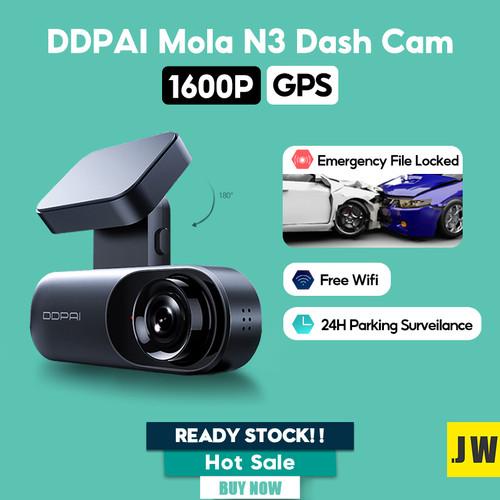 Foto Produk Xiaomi DDPAI Dash Cam Mola N3 GPS Car Camera Connect Kamera Mobil - N3 GPS 1600P, Camera Only dari vinkovinko