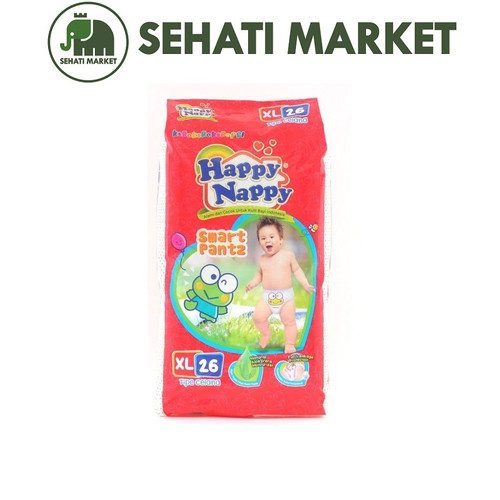 Foto Produk Happy Nappy Smart Pantz S40 / M34 / L30 / XL26   tokopopoksehati - XL26 dari SEHATI MARKET