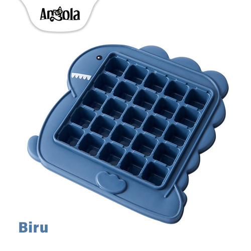 Foto Produk Angola Ice Cube Maker E76 Cetakan Es Batu Balok Plastik 25 Grid - Biru dari Angola Official Store
