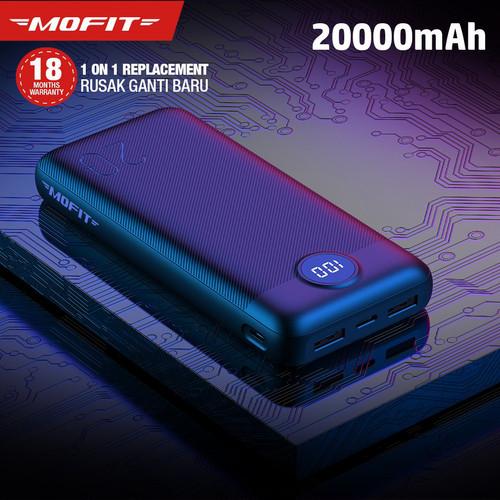 Foto Produk Powerbank MOFIT M29 20000mAh Real Capacity + Fast Charge 2.4A Type-C - Hitam dari 98 Gadget Store
