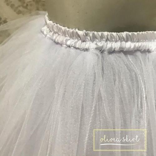 Foto Produk ROK TUTU BALET DEWASA - Putih dari OLIVEA TULLE SKIRT