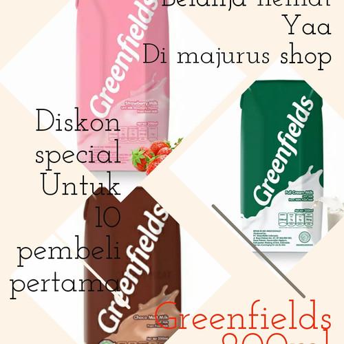 Foto Produk Susu UHT Greenfields 200ml - [1 Dus/24 pcs] - Strawberi dari majurus shop
