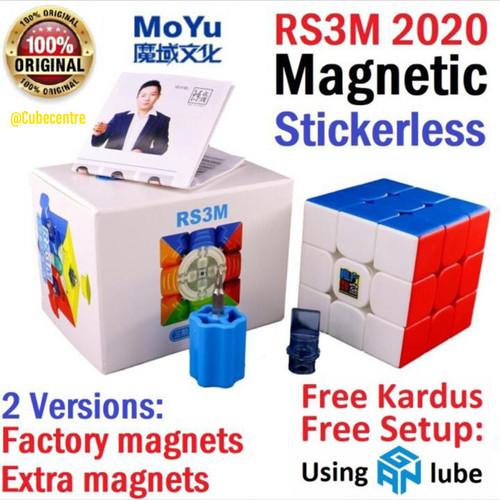 Foto Produk [FREE SETUP] Moyu Rs3M 2020 magnetic stickerless   Rubik 3x3 MFJS - Factory dari CubeCentre
