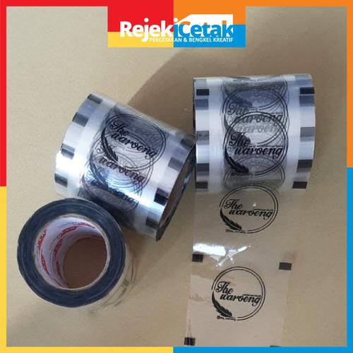 Foto Produk Sablon Seal plastik/ Tutup gelas roll mesin cup sealer 100m dari rejeki cetak