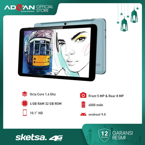"Foto Produk Advan Tab Sketsa 10"" 4GB 32GB Octacore Android9 Garansi Resmi dari Advan Official Store"