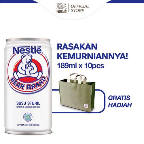 Foto Produk BEAR BRAND 189ml [10 Kaleng] Gratis Bag Bear Brand dari Nestle Indonesia