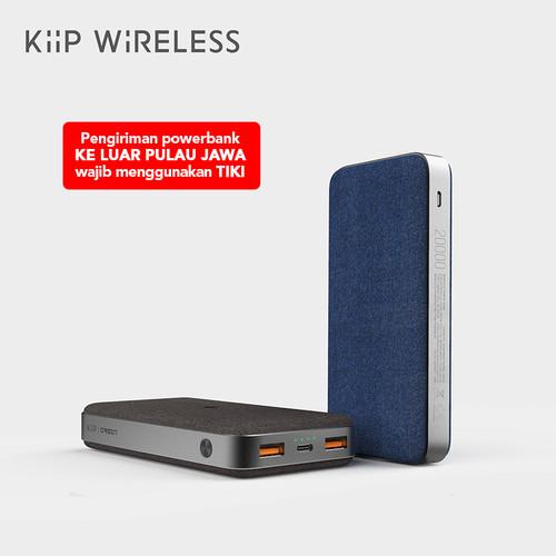 Foto Produk KIIP WIRELESS POWER BANK 10W FAST CHARGING PD&QC 3.0 18W 20000MAH - Hitam dari KIIP Official Store