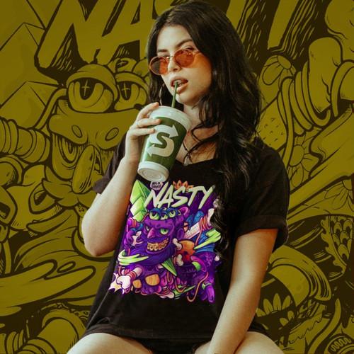 Foto Produk Tshirt Wanita Best Seller NASTYLUSTRATION Wanita - S dari NASTYProject