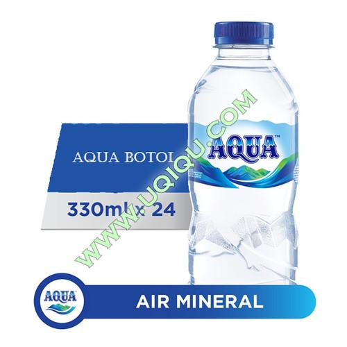 Foto Produk Aqua Botol 330 ml 1 Dus (24 Botol) dari Toko Uqiqu