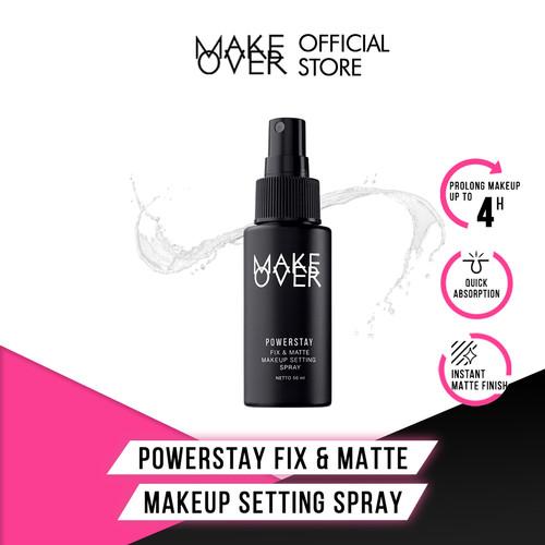 Foto Produk MAKE OVER Powerstay Fix & Matte Makeup Setting Spray 50 ml dari Make Over Official Shop