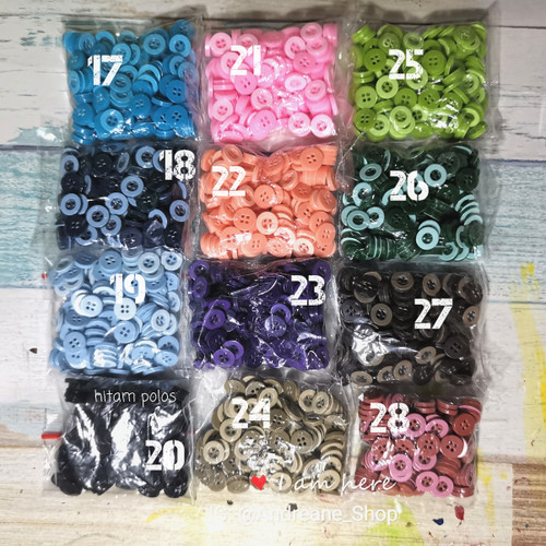 Foto Produk Kancing Baju Kancing Kemeja Variasi 11 mm dari Andreane Shop