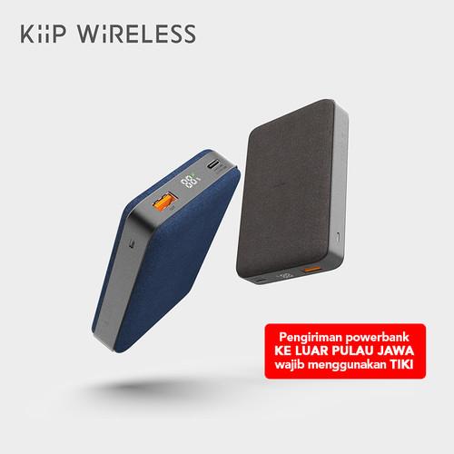 Foto Produk KIIP WIRELESS POWER BANK 10W FAST CHARGING PD&QC 3.0 18W 10000MAH - Biru dari KIIP Official Store