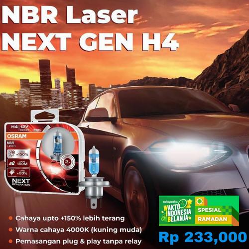 Foto Produk Bohlam OSRAM H4 NBR NBL Night Breaker LASER 12V 60/55W Original dari Parts Solution