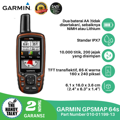 Foto Produk GARMIN GPSMAP 64S FREE PETA INDONESIA dari The Handy Talky