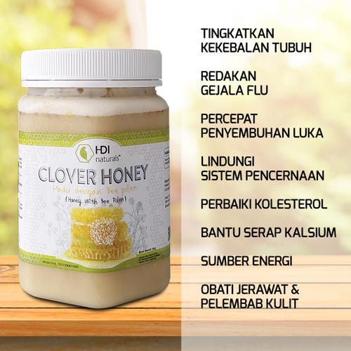 Foto Produk Madu Clover Honey HDI 1Kg Original Ready Stock Siap Kirim dari herbalbaguscom