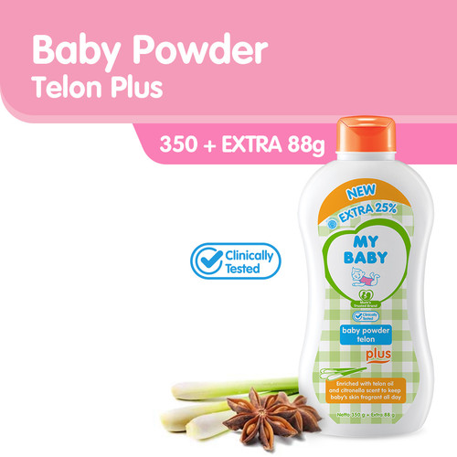 Foto Produk My Baby Powder Telon Plus Bedak Bayi [350 g] dari Tempo Store Official