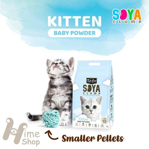 Foto Produk Kit Cat Tofu Soya Clump Litter 7L Baby Powder Pasir Kucing Gumpal dari Hime petshop
