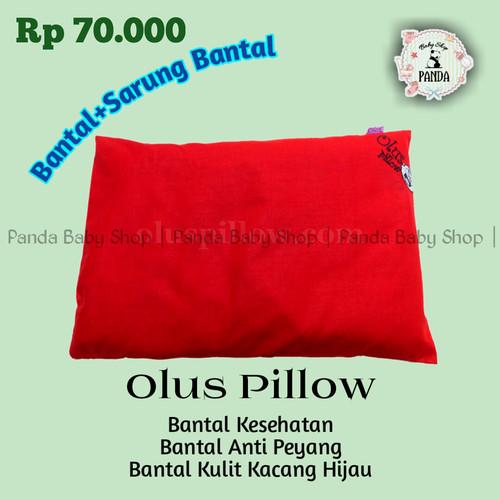 Foto Produk Bantal Bayi Anti Peyang Olus Pillow Isi Kulit Kacang Hijau | Merah dari Panda Baby Shop_1