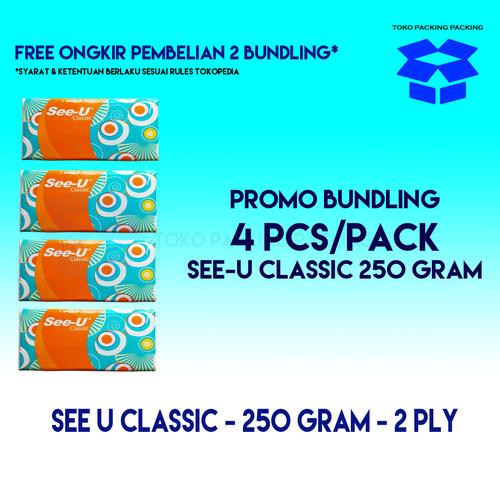Foto Produk [Promo Bundling] 4 pcs x SEE-U Classic Facial Tissue 250s dari Packing Packing