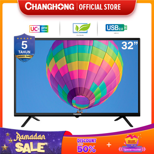 Foto Produk 32 Inch LED TV changhong HD TV-HDMI-USB Moive-L32G3 dari Changhong Official
