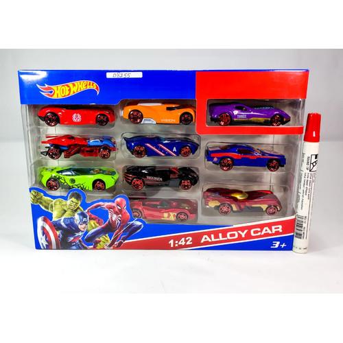 Foto Produk Mobil hotwheels karakter the Avengers isi 10pcs - 28 x 4 x 19cm dari Home Online Toys