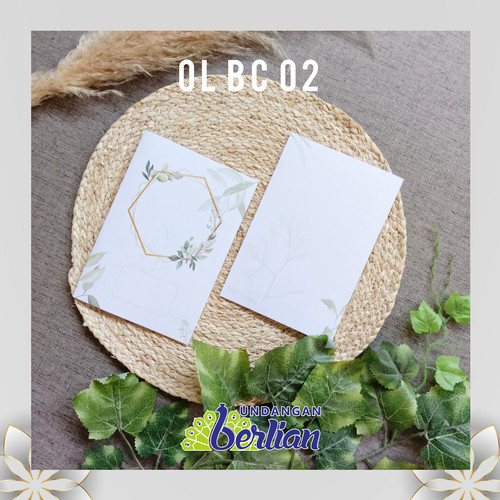 Foto Produk Undangan Pernikahan Simple Elegan / Blangko Undangan Seri OL BC 02 dari UndanganBerlian
