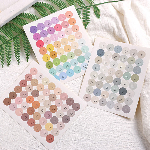 Foto Produk Colorful Smileys Diary Deco Stickers - Sticker Unik - Sticker Lucu dari Pinkabulous