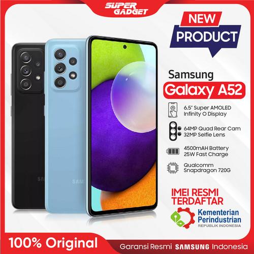 Foto Produk Samsung Galaxy A52 8/128 8/256 GB Kamera 4K RAM 8 ROM 128 256 Resmi - Awesome White, A52 8/128 GB dari SUPER_GADGET