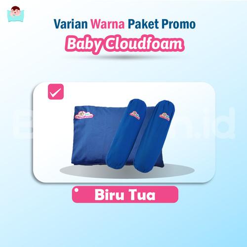 Foto Produk Promo Paket Bantal Terapi Kepala Bayi + Guling Baby Cloudfoam - Biru dari Bantalanid