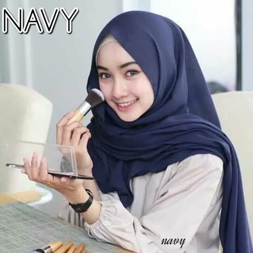 Foto Produk Jilbab Pashmina Diamond Premium Tebal Pasmina Sabyan - Dongker, polos dari tukiyem13 depok