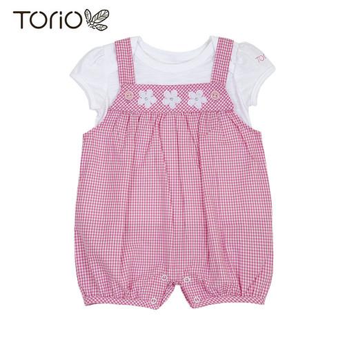 Foto Produk TORIO Pretty Pink Overall Set - Baju Setelan Jumper Anak Perempuan - 3-6 bulan dari Torio