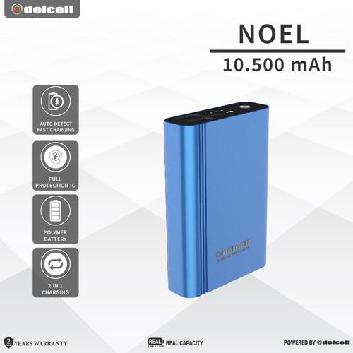 Foto Produk Delcell Power Bank Noel 10500mAh Real Capacity Garansi 2 Tahun - Biru dari DelCell