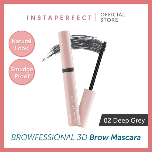 Foto Produk Wardah Instaperfect Browfessional 3D Brow Mascara 02. Deep Grey - Reguler dari Wardah Official