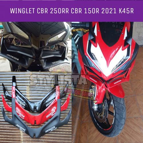 Foto Produk WINGLET CBR 250RR WINGLET CBR 150R K45R WINGLET ALL NEW CBR 2021 - Hitam doff dari Stylista Fashion
