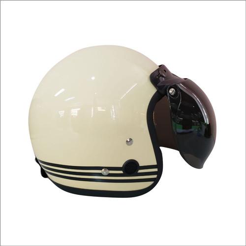 Foto Produk Helm retro HKM line cream (free kaca helm) dari GudangHelm