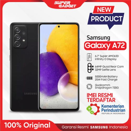 Foto Produk Samsung Galaxy A72 8/128 8/256 Kamera 4K GB RAM 8 ROM 128 256 Resmi - Awesome Black, A72 8/128GB dari SUPER_GADGET