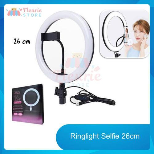 Foto Produk Ringlight Selfie 26cm + Holder HP (Ring Light No Tripod) dari Fleurie Store