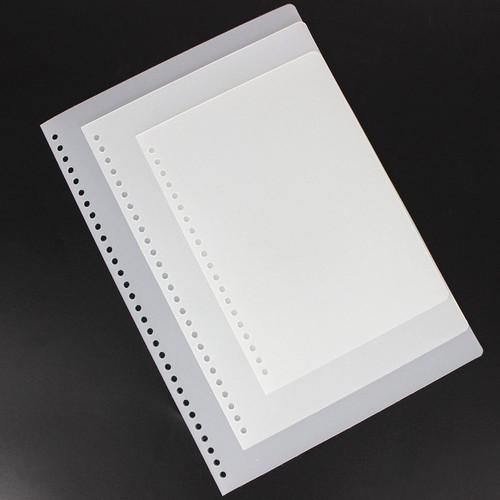 Foto Produk DIY Plastic Binder Cover Doff White A5 - Sampul Binder A5 - Cover A5 dari Pinkabulous