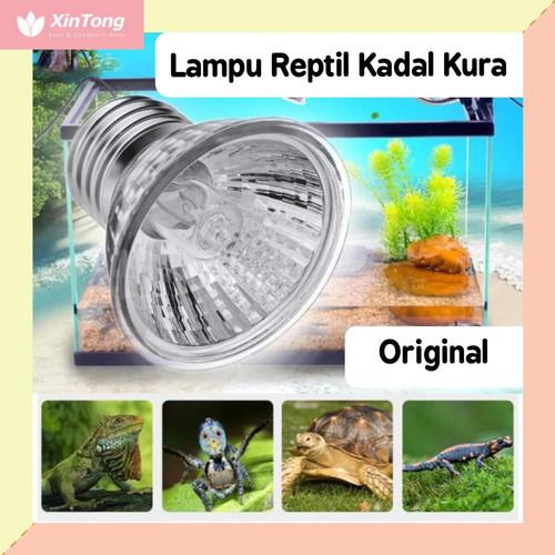 Foto Produk Lampu Reptil Kadal Kura Turtoise UVA UVB lengkap 25W 50W 75W Original - 25 Watt dari xintong