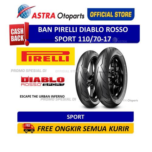 Foto Produk Pirelli Diablo Rosso Sport 110/70-17M/CTL 54S(Depan/Belakang) (3614300 dari Astra Otoparts