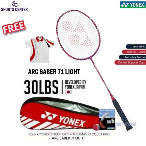 Foto Produk Full Set Raket Badminton Yonex Arcsaber / Arc Saber 71 light 5U G5 dari Sports Center
