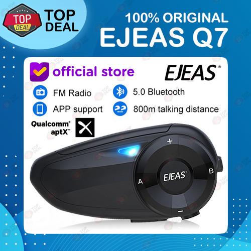 Foto Produk EJEAS Q7 Bluetooth 5.0 FM Radio Intercom 7 helm upgrade dr V6 Pro dari Top Deal
