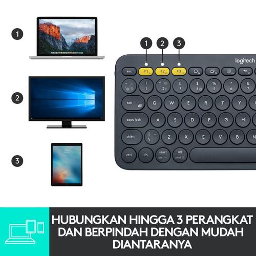 Foto Produk Logitech Bluetooth Keyboard K380 , K 380 , K-380 - Biru dari Aquarius Official