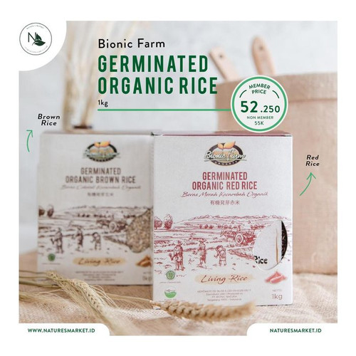 Foto Produk Bionic Farm Germinated Organic Brown Rice 1kg dari naturesmarket