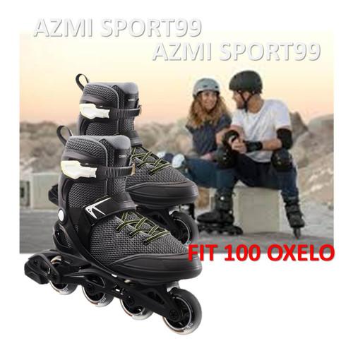 Foto Produk Sepatu Roda Khusus Pria Dewasa Roller Skate Inline Blade FIT100 Oxelo - 39=24.3-24.9cm dari Azmi Sport99