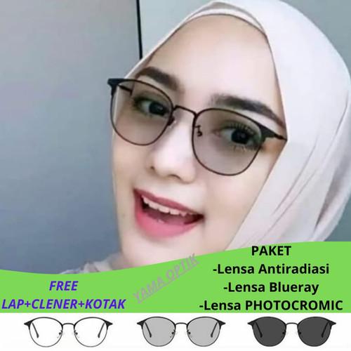 Foto Produk Kacamata Wanita   Lensa Photocromic   Kacamata Anti Radiasi - Antiradiasi dari Yamaoptik